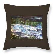 A River Runs Through Throw Pillow by Sherry Harradence
