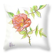 A Rose In Brigadoon Throw Pillow by Kip DeVore