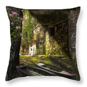 A Secret Place Throw Pillow by Debra and Dave Vanderlaan