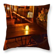 A Single Candle Burns. Throw Pillow by Paul Ward