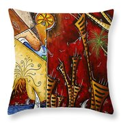 A Slice Of Paradise By Madart Throw Pillow by Megan Duncanson