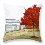 A Soft Autumn Day Throw Pillow by Tom and Pat Cory
