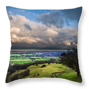 A Storm Over English Countryside With Dramatic Cloud Formations  Throw Pillow by Matthew Gibson