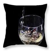 A Taste Of The Bubbly Throw Pillow by Camille Lopez