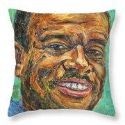 A Teacher From Atlanta Ga Throw Pillow by Xueling Zou