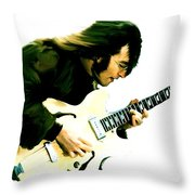 A Time It Was  John Lennon Throw Pillow by Iconic Images Art Gallery David Pucciarelli