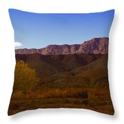 A Utah Landscape In Autumn Throw Pillow by Jeff Swan