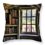 A View From The Study Throw Pillow by Susan Candelario