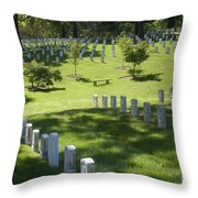 A Waiting Bench Throw Pillow by Paul W Faust -  Impressions of Light