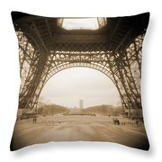 A Walk Through Paris 14 Throw Pillow by Mike McGlothlen