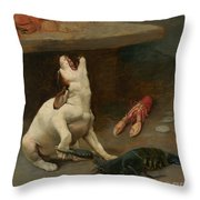 A Warm Response Throw Pillow by William Strutt