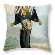 A Wellington Boot Or The Head Throw Pillow by English School