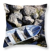 Abandoned Throw Pillow by Charles Dobbs