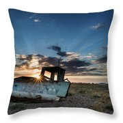 Abandoned Fishing Sunset Digital Painting Throw Pillow by Matthew Gibson