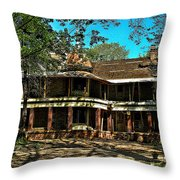 Abandoned Mansion Throw Pillow by Kristie  Bonnewell