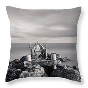 Abandoned Pier Throw Pillow by Adam Romanowicz