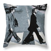 Abbey Road 2013 Throw Pillow by Luis Ludzska