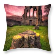 Abbey Ruin Throw Pillow by Adrian Evans