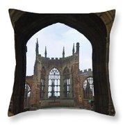 Abbey Ruin - Scotland Throw Pillow by Mike McGlothlen