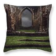 Abbey Steps Throw Pillow by Amanda Elwell