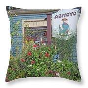 ABiYOYO Throw Pillow by Barbara McDevitt