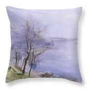 Above Montreux Throw Pillow by John William Inchbold