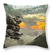 Above The Clouds 3 Throw Pillow by Steve Harrington