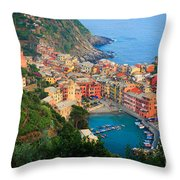 Above Vernazza Throw Pillow by Inge Johnsson