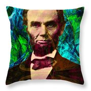 Abraham Lincoln 2014020502p145 Throw Pillow by Wingsdomain Art and Photography