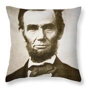 Abraham Lincoln Throw Pillow by Alexander Gardner