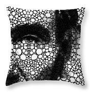 Abraham Lincoln - An American President Stone Rock'd Art Print Throw Pillow by Sharon Cummings