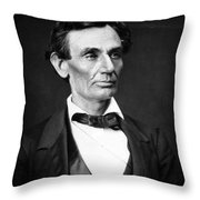 Abraham Lincoln Portrait Throw Pillow by Anonymous