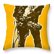 Abraham Lincoln - The First Badass Throw Pillow by Pixel Chimp