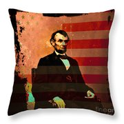 Abraham Lincoln Throw Pillow by Wingsdomain Art and Photography