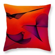 Abstract 130 Throw Pillow by Carol Sullivan