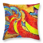 Abstract 34 Throw Pillow by Kenny Francis