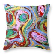Abstract 43 Throw Pillow by Patrick J Murphy