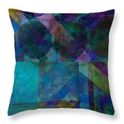 abstract - art - Stripes Five  Throw Pillow by Ann Powell