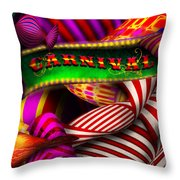 Abstract - Carnival Throw Pillow by Mike Savad