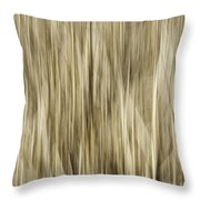 Abstract Cattails Throw Pillow by Thomas Young