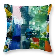 Abstract Color Relationships lll Throw Pillow by Michelle Calkins