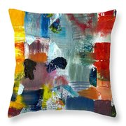 Abstract Color Relationships Lv Throw Pillow by Michelle Calkins