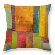Abstract Color Study Collage L Throw Pillow by Michelle Calkins