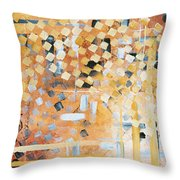 Abstract Decorative Art Original Diamond Checkers Trendy Painting By Madart Studios Throw Pillow by Megan Duncanson