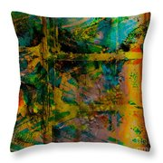 Abstract - Emotion - Facade Throw Pillow by Barbara Griffin