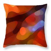 Abstract Fall Light Throw Pillow by Amy Vangsgard