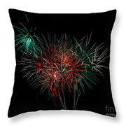Abstract Fireworks Throw Pillow by Robert Bales