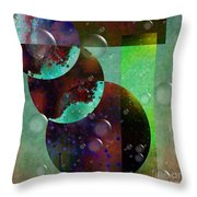 Abstract - Floaters Throw Pillow by Liane Wright