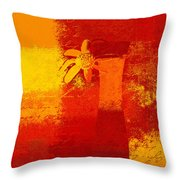 Abstract Floral - 6at01a Throw Pillow by Variance Collections