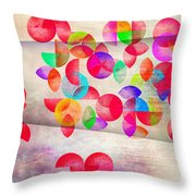 Abstract Floral  Throw Pillow by Mark Ashkenazi